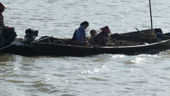 Sand dredging on the Irrawaddy